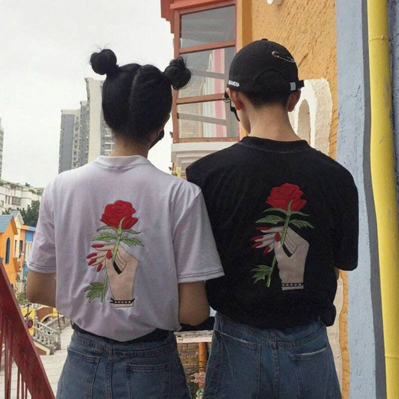 Hand with Rose T-Shirt -  - Online Aesthetic Shop - 2