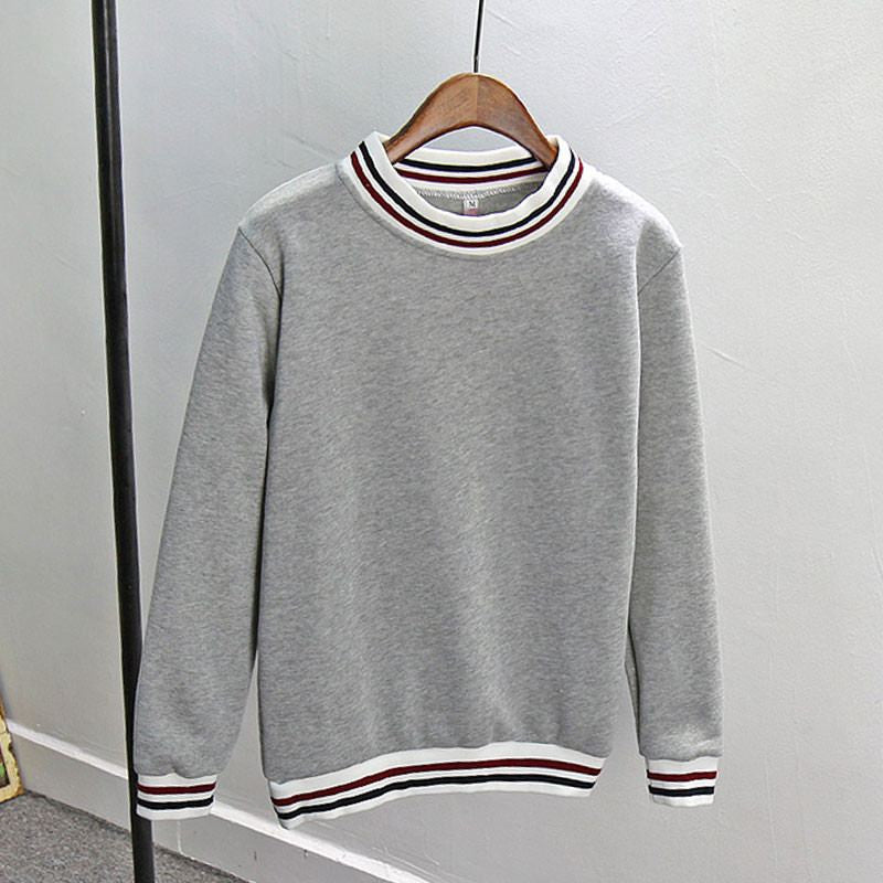 Basic Tri-Stripped Neck Pullover -  - Online Aesthetic Shop - 3