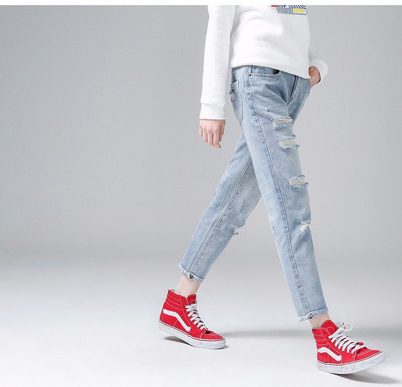 Faded Ripped Jeans - Online Aesthetic -  Tumblr Kawaii Aesthetic Shop Fashion