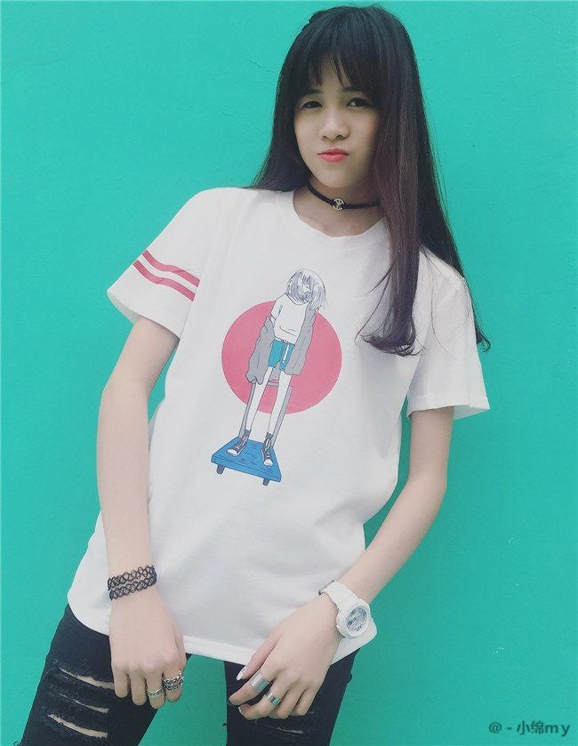 Board Girl T-Shirt -  - Online Aesthetic Shop - 5