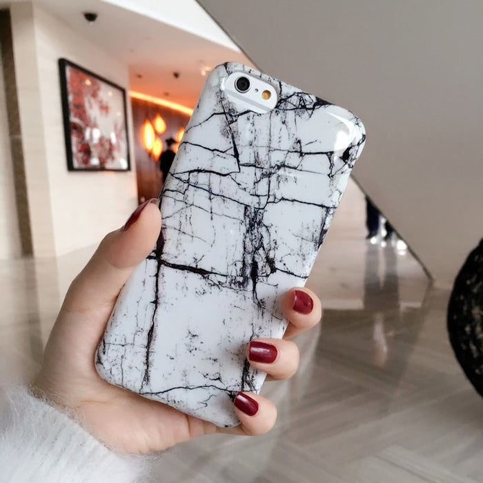 B&W Marble iPhone Cases