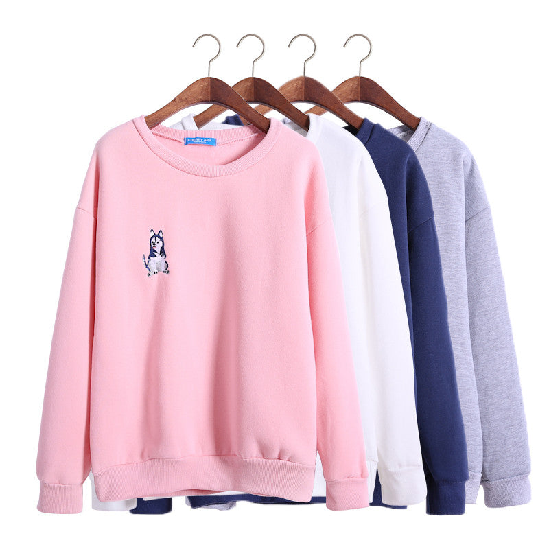 Husky Dog Pullover - Online Aesthetic -  Tumblr Kawaii Aesthetic Shop Fashion