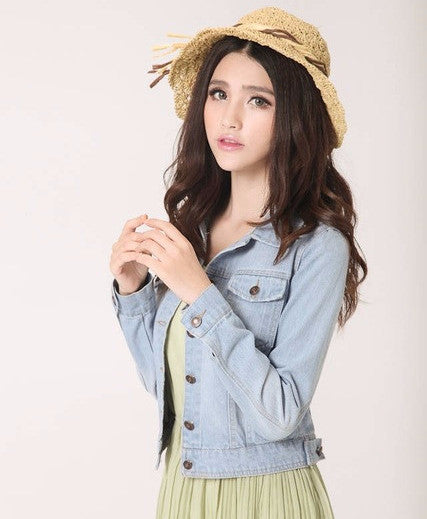 Simple Jean Jacket - Online Aesthetic -  Tumblr Kawaii Aesthetic Shop Fashion