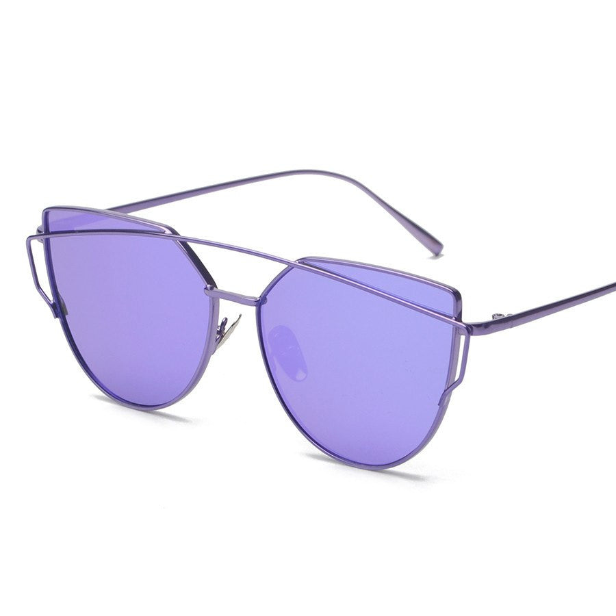 Metal Frame Tinted Sunglasses -  - Online Aesthetic Shop - 7