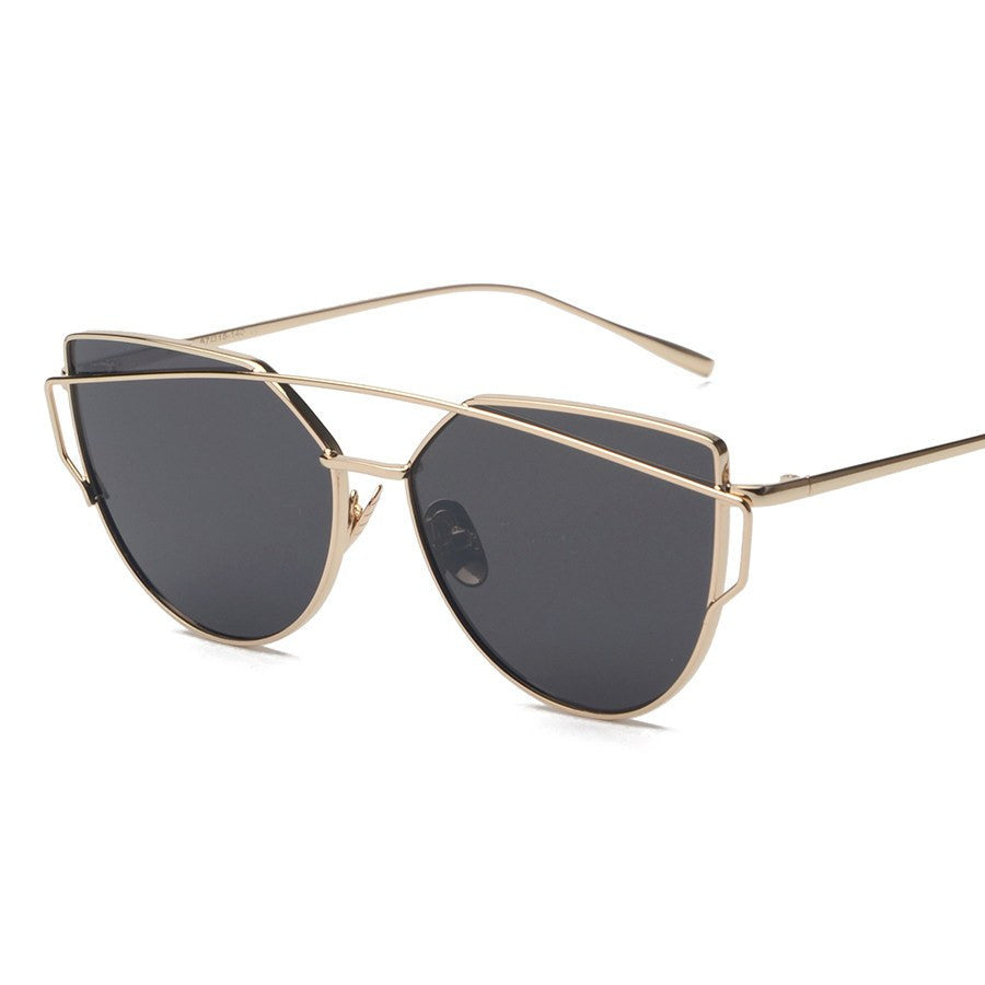 Metal Frame Tinted Sunglasses -  - Online Aesthetic Shop - 11