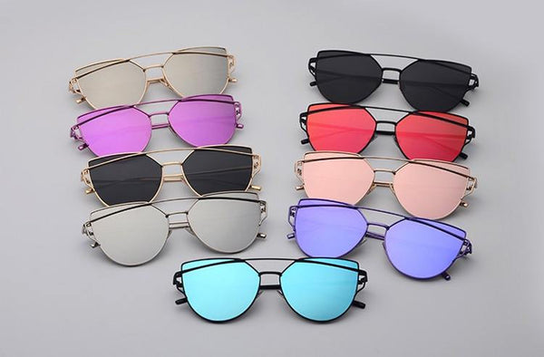 Metal Frame Tinted Sunglasses -  - Online Aesthetic Shop - 1