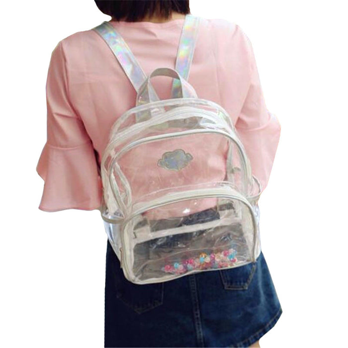 Fully Transparent Backpack - Online Aesthetic -  Tumblr Kawaii Aesthetic Shop Fashion