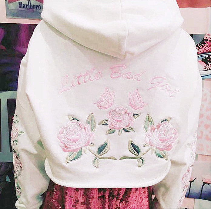 bad girl embroidery hoodie - Online Aesthetic -  Tumblr Kawaii Aesthetic Shop Fashion