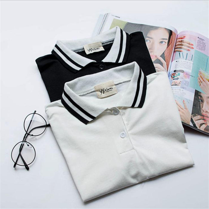 Black and White Single Stripe Shirt