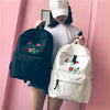 Harajuku Rose Embroidery Backpack - Online Aesthetic -  Tumblr Kawaii Aesthetic Shop Fashion