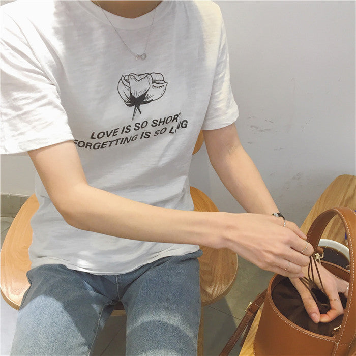 Love is Short. Forgetting is Long T-Shirt - Online Aesthetic -  Tumblr Kawaii Aesthetic Shop Fashion