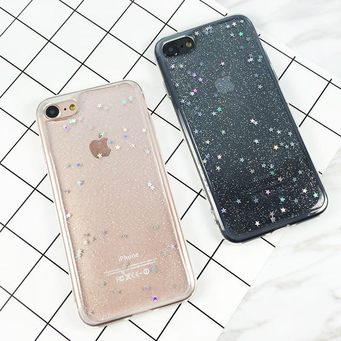 Transparent Glitter iPhone Cases - Online Aesthetic -  Tumblr Kawaii Aesthetic Shop Fashion
