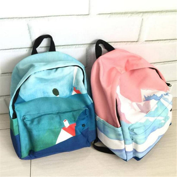 Watercolour Canvas Backpacks -  - Online Aesthetic Shop - 1