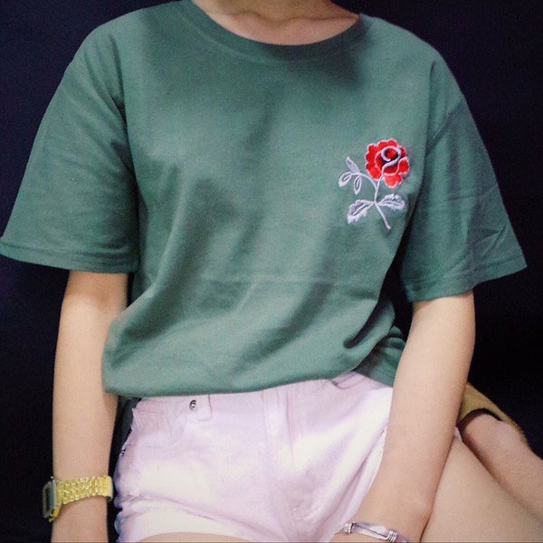Red Rose T-Shirt -  - Online Aesthetic Shop - 1