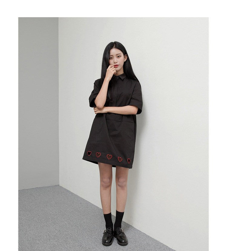 Transparent Hearts Shirt Dress -  - Online Aesthetic Shop - 14