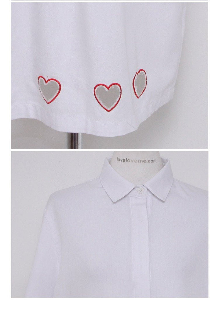Transparent Hearts Shirt Dress -  - Online Aesthetic Shop - 4