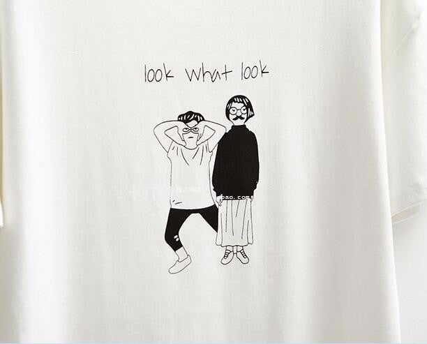 Look. What? Look! T-Shirt -  - Online Aesthetic Shop - 3