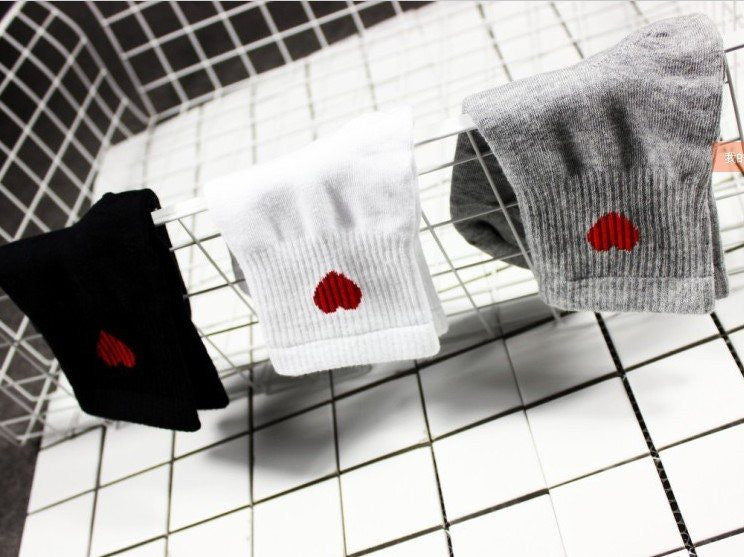 Red Heart Socks -  - Online Aesthetic Shop - 2