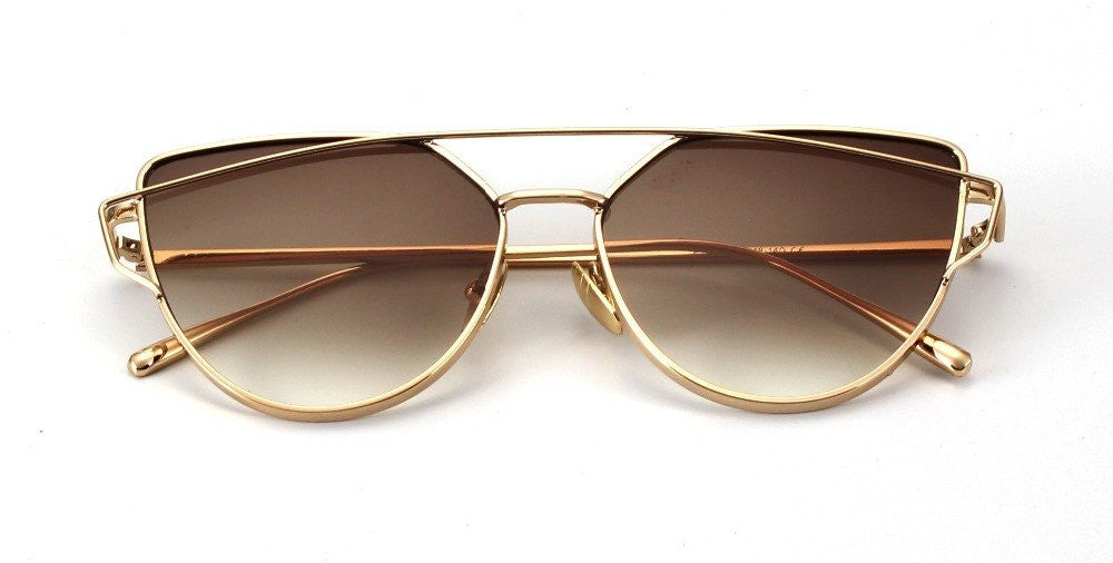 Metal Frame Tinted Sunglasses -  - Online Aesthetic Shop - 3