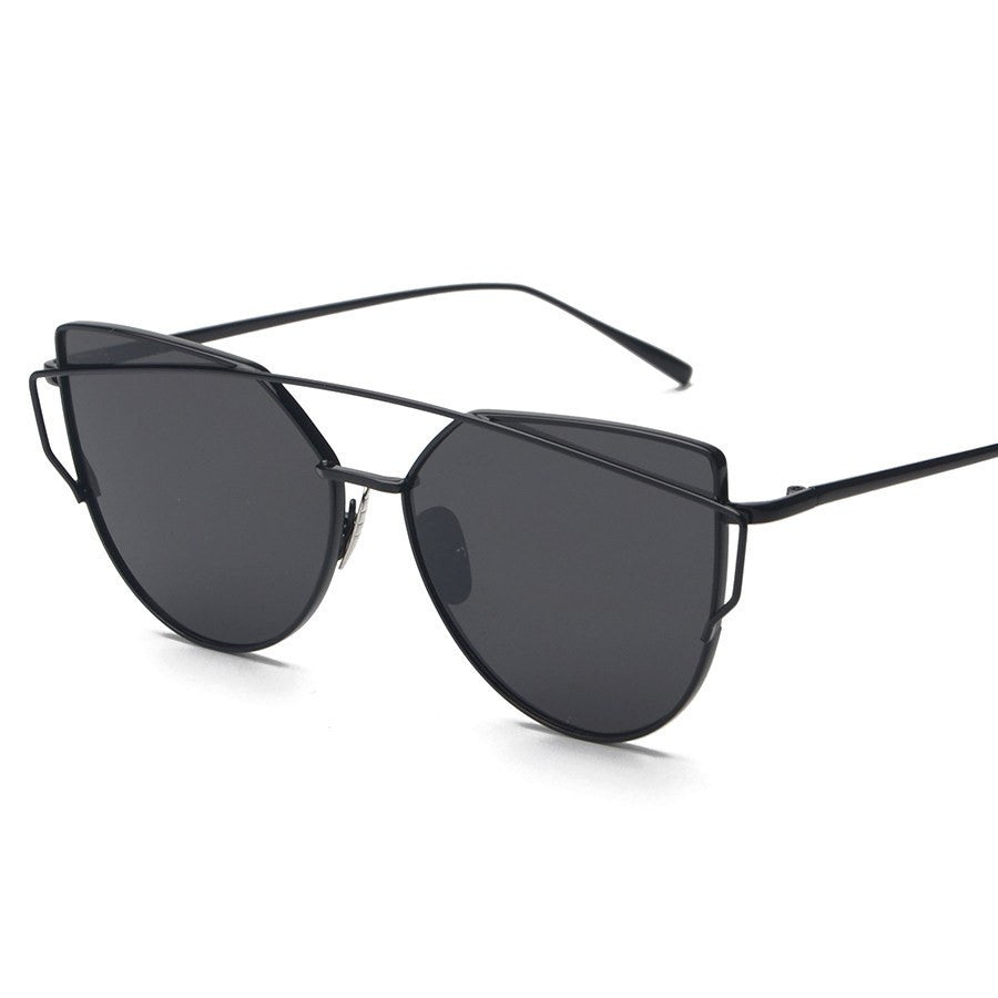 Metal Frame Tinted Sunglasses -  - Online Aesthetic Shop - 13