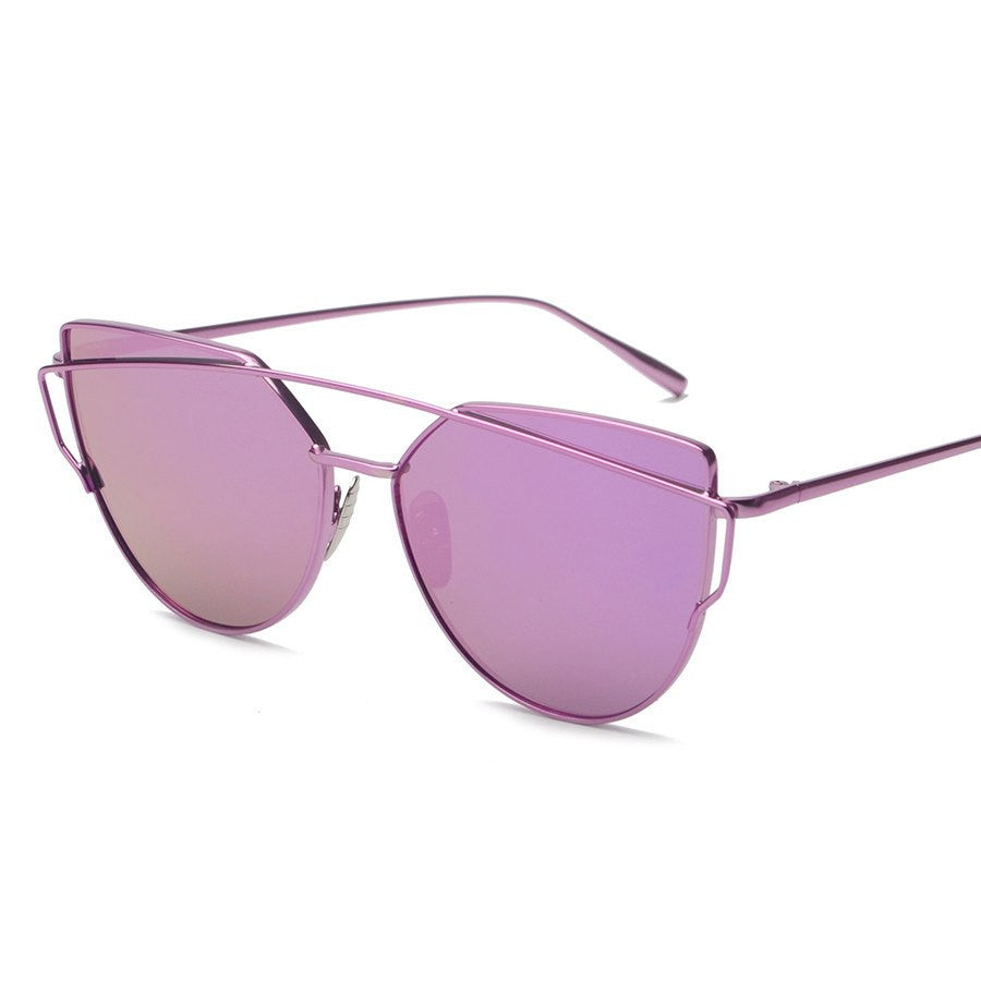 Metal Frame Tinted Sunglasses -  - Online Aesthetic Shop - 12