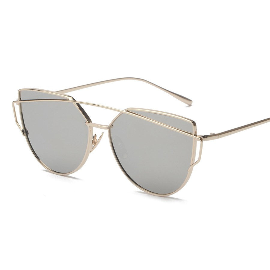 Metal Frame Tinted Sunglasses -  - Online Aesthetic Shop - 14