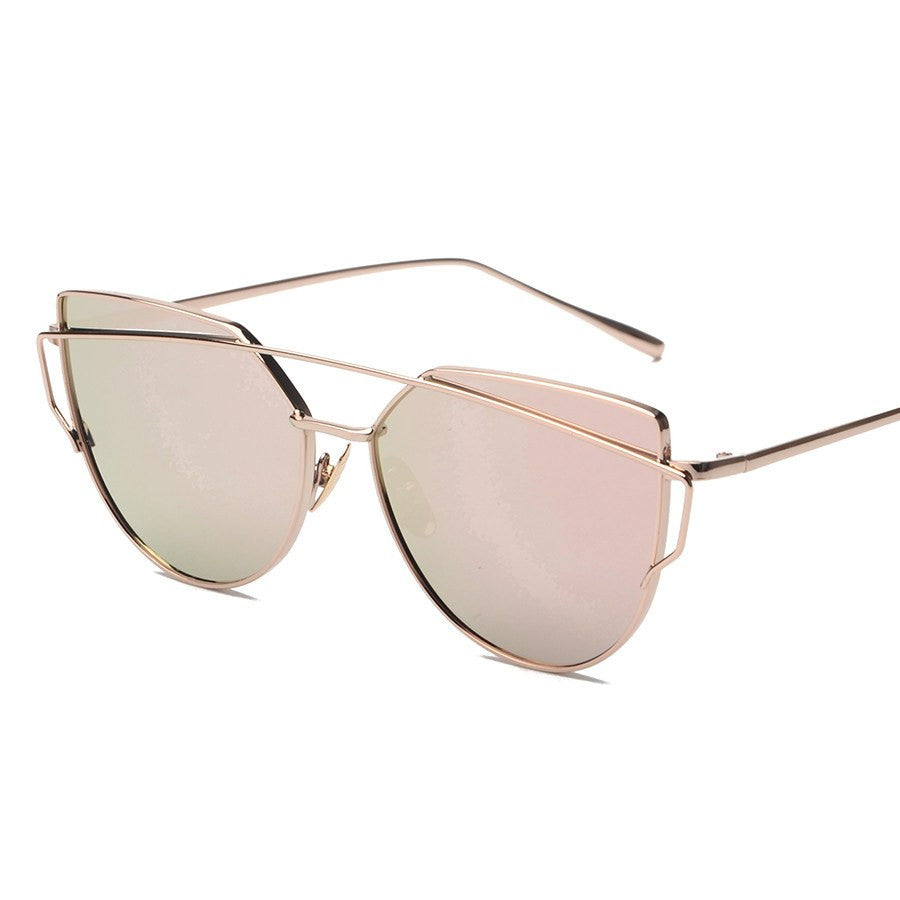 Metal Frame Tinted Sunglasses -  - Online Aesthetic Shop - 2