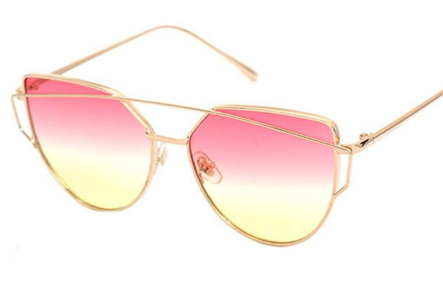 Metal Frame Tinted Sunglasses -  - Online Aesthetic Shop - 9