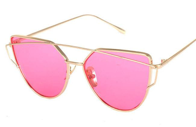 Metal Frame Tinted Sunglasses -  - Online Aesthetic Shop - 10