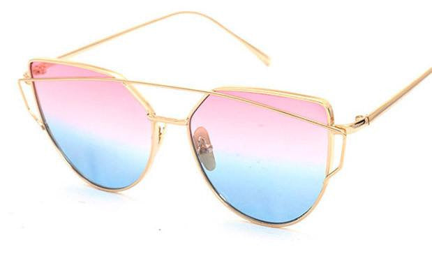 Metal Frame Tinted Sunglasses -  - Online Aesthetic Shop - 16