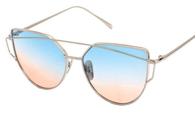 Metal Frame Tinted Sunglasses - Online Aesthetic
