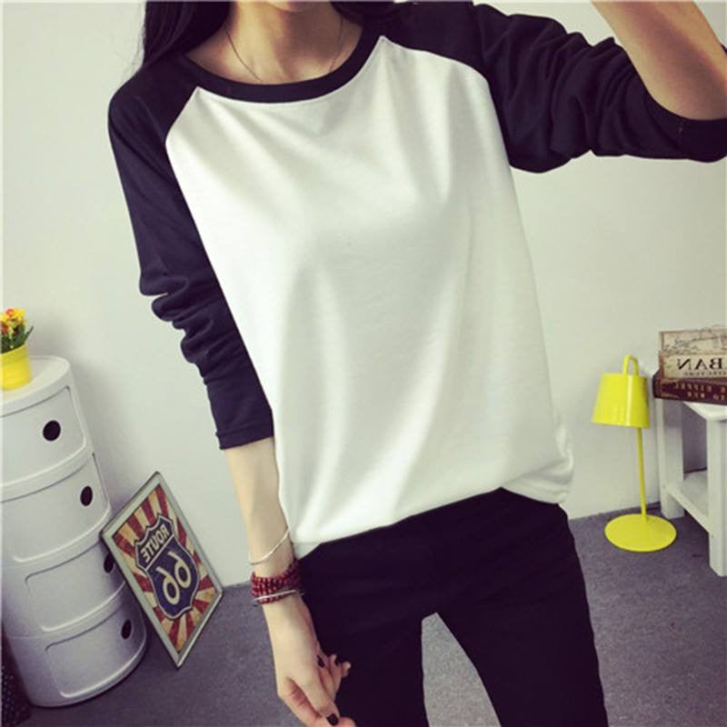 Simple Two Tone T-Shirt (Multiple Colours) - Online Aesthetic