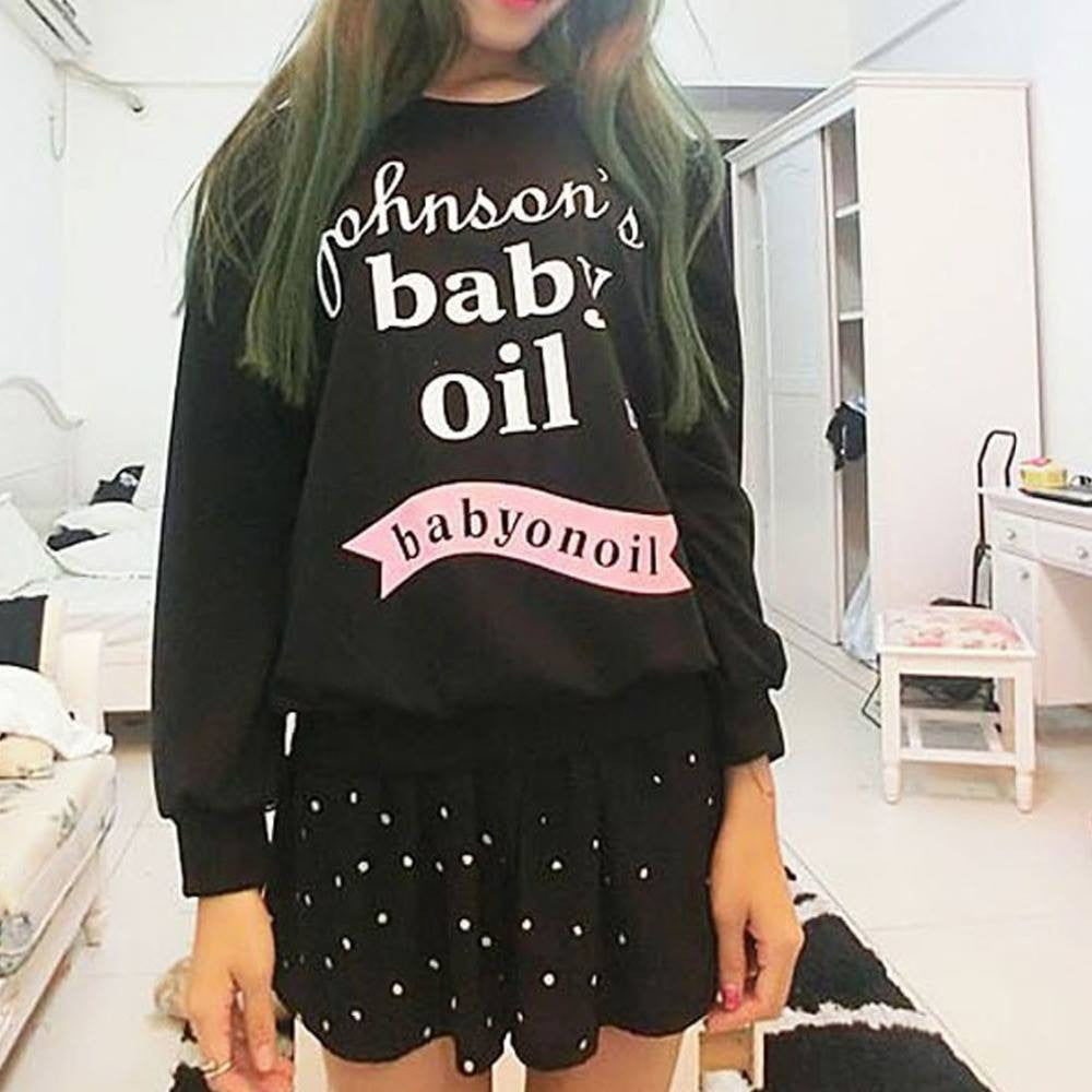 Johnson Baby Oil Pullover - Online Aesthetic