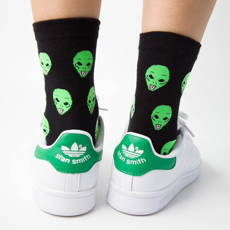 Cat Alien Cotton Socks -  - Online Aesthetic Shop - 6