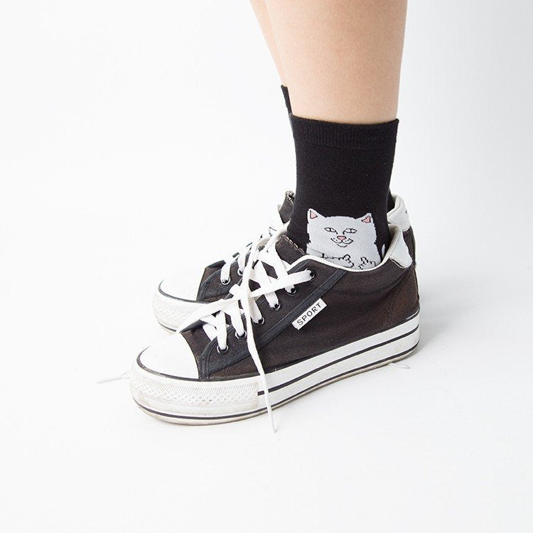 Cat Alien Cotton Socks -  - Online Aesthetic Shop - 13