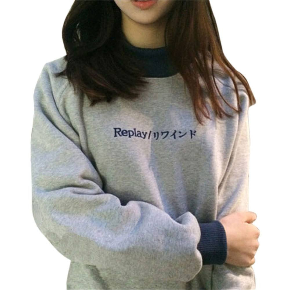 Japanese Replay Pullover - Online Aesthetic