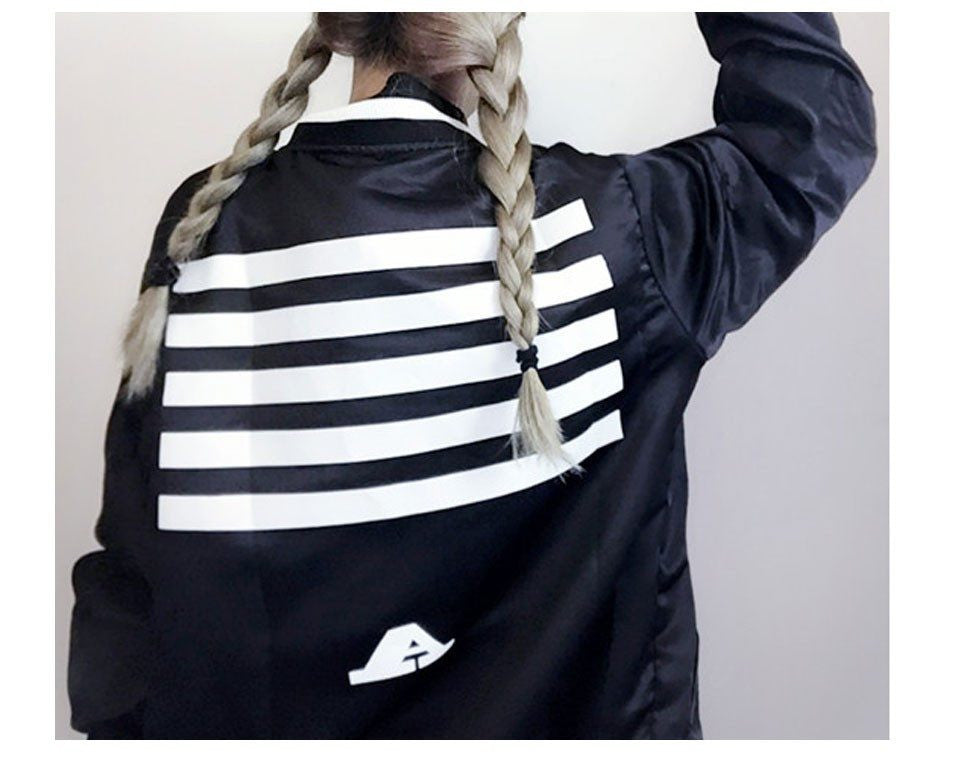 Black and White Stripped Jacket -  - Online Aesthetic Shop - 2
