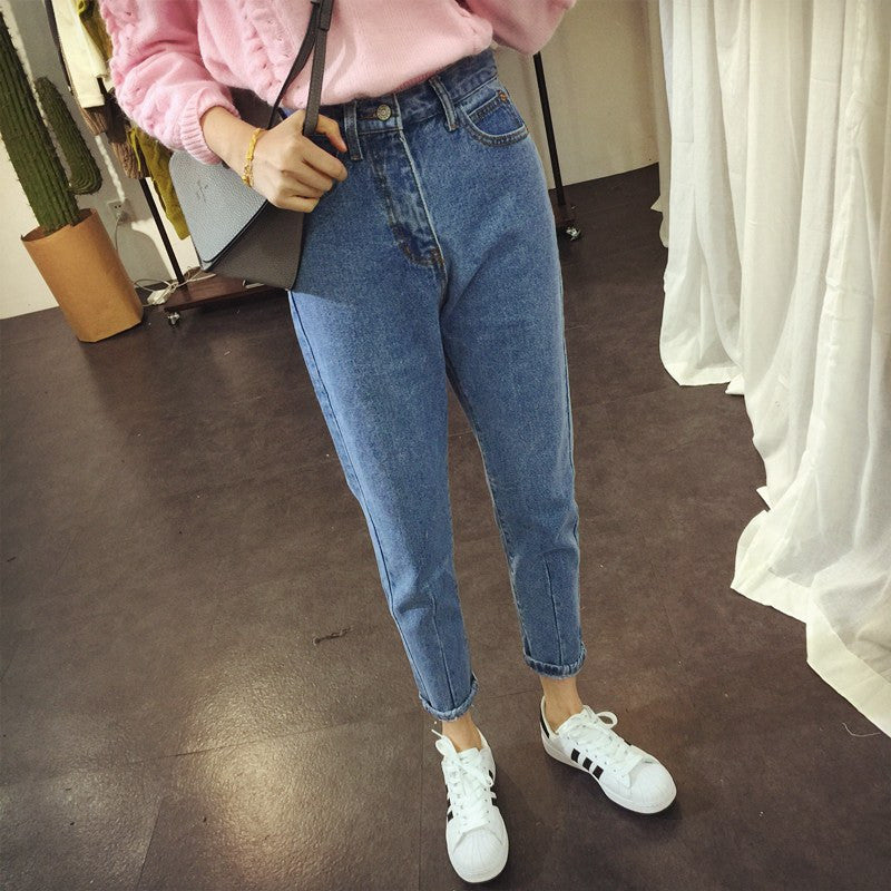 Retro Straight Leg Jeans -  - Online Aesthetic Shop - 12