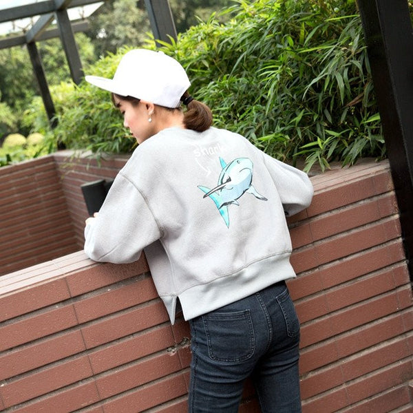 Shark Printed Casual Sweatshirts -  - Online Aesthetic Shop - 1