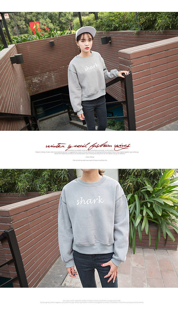 Shark Printed Casual Sweatshirts -  - Online Aesthetic Shop - 4