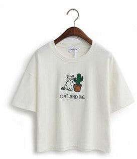 Cat and Me T-Shirt -  - Online Aesthetic Shop - 2