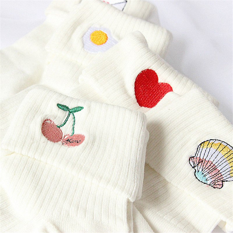 Kawaii Embroidered Socks -  - Online Aesthetic Shop - 2