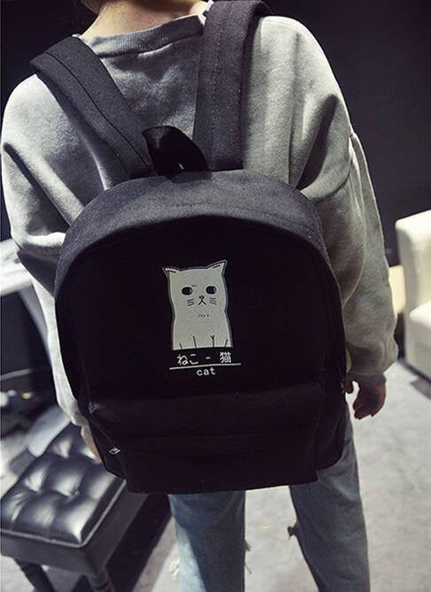 Japanese Cat Backpack - Soft Accessories - Online Aesthetic Shop - 5