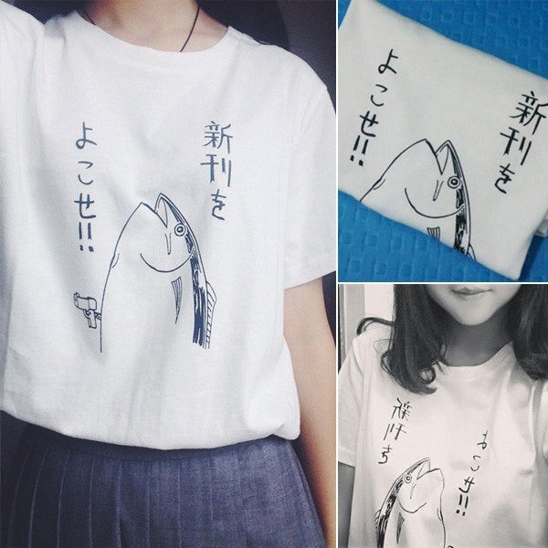 Fish T-Shirt - Clothes - Online Aesthetic Shop - 6