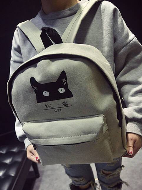 Japanese Cat Backpack - Soft Accessories - Online Aesthetic Shop - 6