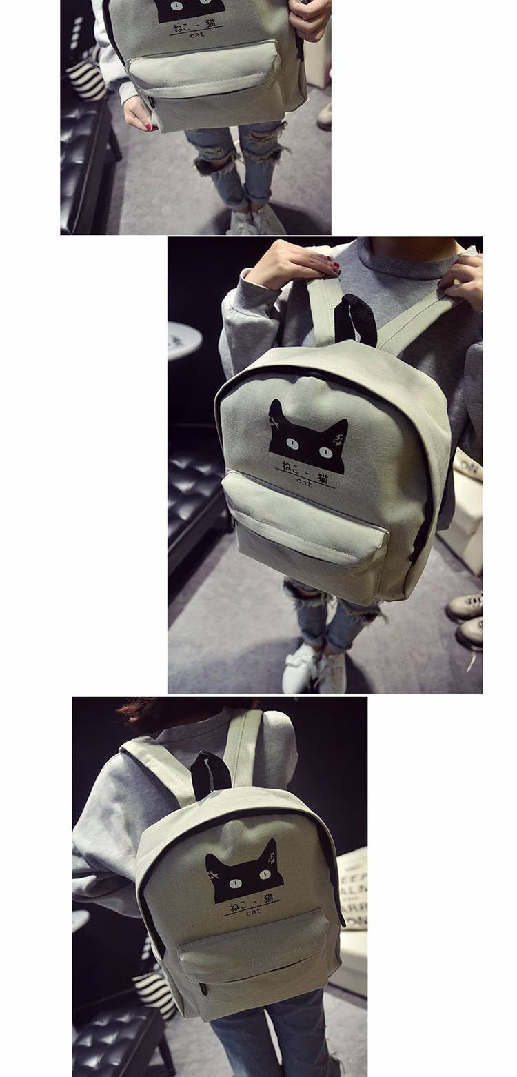 Japanese Cat Backpack - Soft Accessories - Online Aesthetic Shop - 4