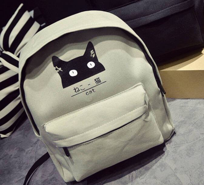 Japanese Cat Backpack - Soft Accessories - Online Aesthetic Shop - 3