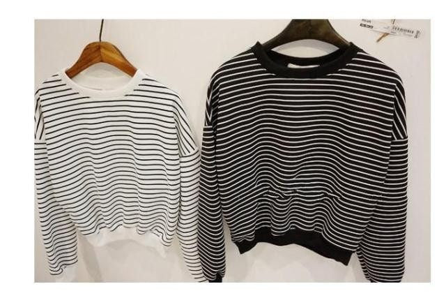 Black & White Stripped Sweater - Online Aesthetic