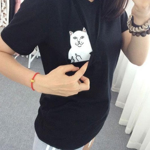 Sneaking Cat T-Shirt - Online Aesthetic -  Tumblr Kawaii Aesthetic Shop Fashion