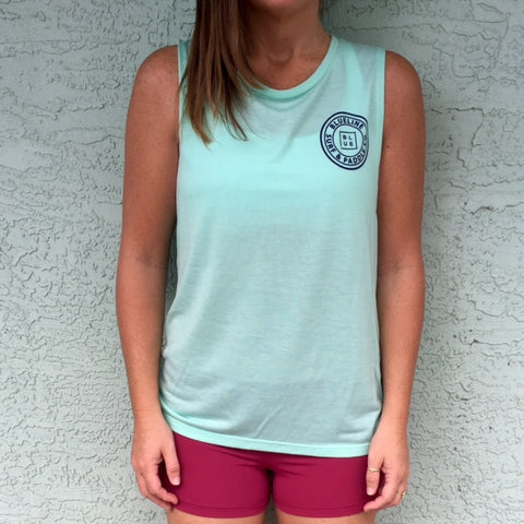 The Original Muscle Tank Mint\Navy